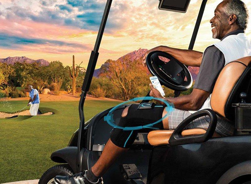 Man on a golf cart
