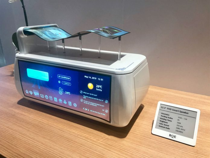 At the SID Display Week 2019, BOE exhibit a number of flexible OLED and 8 K displays