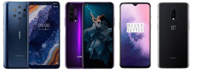 Nokia 9 PureView vs Honor 20 Pro vs OnePlus 7: Specs Comparison