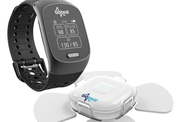 Biobeat blood pressure monitor